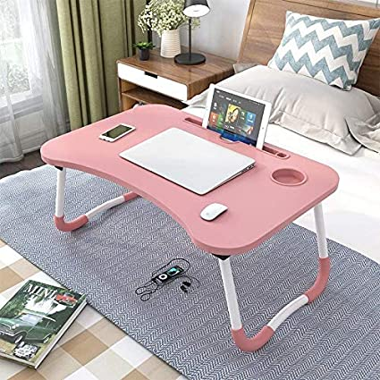 Vovalona Smart Multi-Purpose Laptop Table with Dock Stand/Study Table/Bed Table/Foldable and Portable/Ergonomic & Rounded Edges/Non-Slip Legs