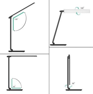 Neigung & Schwenkbarkeit - Aukey LT-T10 12W LED Schreibtischlampe