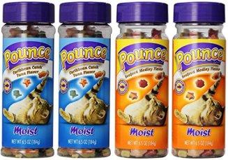 Pounce-Moist-4-Pack-Bundle-Includes-2-Caribbean-Catch-Tuna-Flavor-and-2-Moist-Seafood-Medley-Flavor-Cat-Treats-65-ounce-each