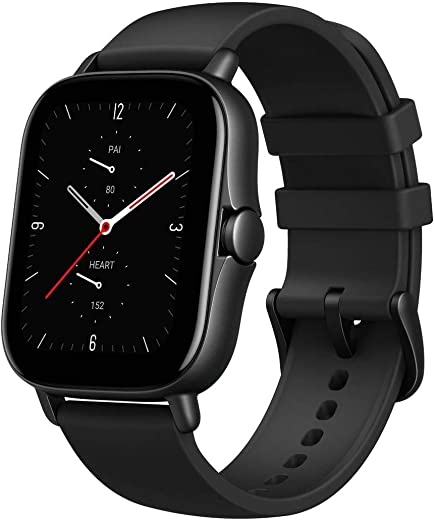 Amazfit GTS 2e Smartwatch with 24H Heart Rate Monitor, Sleep, Stress and SpO2 Monitor, Activity Tracker Sports Watch with 90 Sports Modes, 14 Day Battery Life, Black