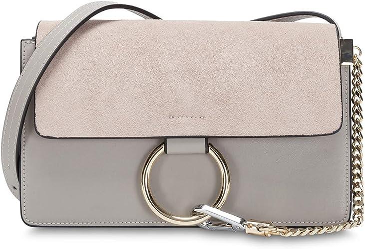Women Genuine Leather Crossbody Shoulder Purse Chain Link FY Bag