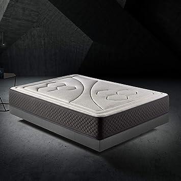 HOME Colchón 150x190cm Viscoelastico Memory Vex Foam 27cm Altura, 5cm viscoprogresion Grafeno