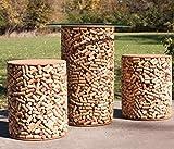 Wine Cork Outdoor Patio Furniture Set - 1 Table, 2 Stools