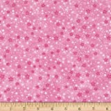 Flannel Stars Pink Fabric By The Yard
