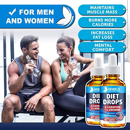 Weight Loss Drops - Made in USA - Best Diet Drops for Fat Loss - Effective Appetite Suppressant & Metabolism Booster - 100% Natural, Safe & Proven Ingredients - Non GMO Fat Burner - Garcinia Cambogia 5