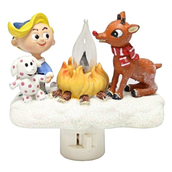 Flame Light Rudolph Night Light. Here are some of the best Vintage Christmas Decor Ideas I've found this year. #AbbottsAtHome #ChristmasDecor #ChristmasIdeas