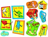 Eureka Back to School Dr. Seuss Red Fish Blue Fish, Sam I Am, and Fox in Socks Classroom Decorations for Teachers, 11pc