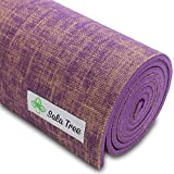 Sala Tree: Serenity - Exclusive Natural Jute Yoga Mat, Extra Long 72', Extra Thick 8 mm, Non Slip, for Any Type of Yoga, Pilates, or Exercises! (Purple)