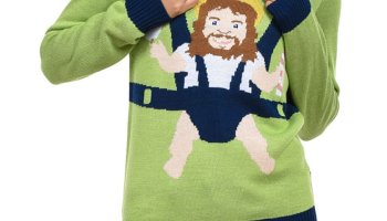 Tipsy Elves Mens Sweet Baby Jesus Ugly Christmas Sweater Funny