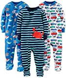 Simple Joys by Carter's Baby Boys' 3-Pack Snug Fit Footed Cotton Pajamas, Crab/Sea Creatures/Cars, 5T
