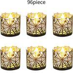 Halloween-Laser-Cut-Candle-Holder-Black-Spiderweb-Candle-Wraps-Votive-Tea-Light-Decorative-Wraps-for-Halloween-Party-Supplies96-Pieces