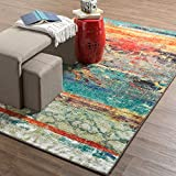Mohawk Home Strata Eroded Distressed Abstract Printed Area Rug, 5'x8', Multicolor
