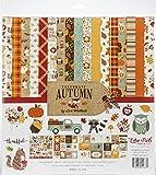 Echo Park Paper Company CAU158016 Celebrate Autumn Collection Kit Paper, Orange, Yellow, Blue, Brown, Tan