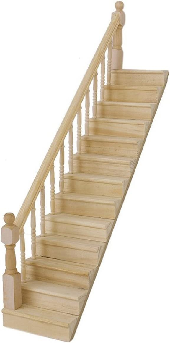 Amazon Com Pixnor Dollhouse Miniature 1 12 Diy Wooden Stairs With | Stairs Made Of Wood | Pine | Staircase | Wood Plank | Hanging | Custom Made