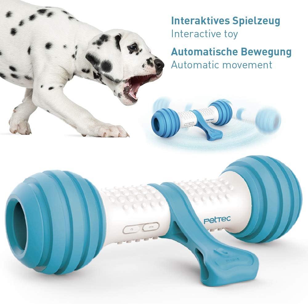 Hueso de juguete interactivo de PetTec | Juguete para perros | A batería para perros, gatos y cachorros | Resistente a los mordiscos y robusto con control automático (Play Bone)