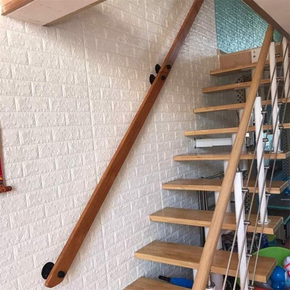 Amazon Com Handrail 30Cm 500Cm Non Slip Wooden Stair Railings   Wood Stair Railings Interior   Residential   Craftsman Style   2Nd Floor   Paint   Rosette