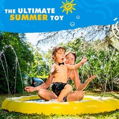 SplashEZ-USA-3-in-1-Splash-Pad-Sprinkler-for-Kids-and-Toddler-Pool-for-Learning--Childrens-Sprinkler-Pool-60-Inflatable-Water-Toys--Around-The-World-Outdoor-Kiddie-Pool-for-Babies-Toddlers
