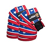 DMoose Fitness Knee Wraps - Strong Fastening Straps, Durable Stitching - Heavy Duty 78' Elastic Compression Knee Straps to Enhance Your Powerlifting. ...