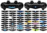 eXtremeRate 60 Pcs/Set Custom Game Light Bar Vinyl Stickers Decal Led Lightbar Cover for Playstation 4 Dualshock 4 PS4 PS4 Slim PS4 Pro Controller Skins
