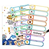 Baby Bottle Labels, Tinabless Write-On, Self-Laminating, Daycare Waterproof Labels (Pack of 80)