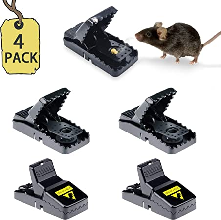 Lesnic Mouse Trap Reusable Best Small Mouse Squirrel Traps That Work Mice Traps Snap And Indoor Trap With Detachable Bait Cup Very Effective And Safe Better Mouse Catcher Amazon Co Uk Garden