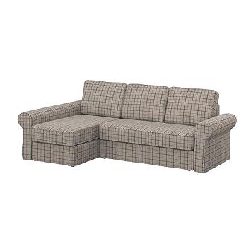 Soferia Fodera Extra Ikea Backabro Divano Con Chaise Longue