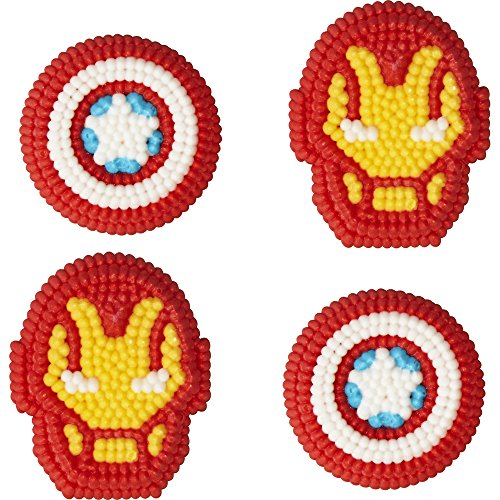 Wilton Marvel Avengers Icing Decorations, Multicolor
