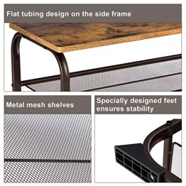 c5a38cc2ddd2 SONGMICS Shoe Rack Bench with Seat and Metal Mesh Shelves for Entryway  Closet