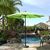 Belleze 9' Patio Umbrella Outdoor Table Umbrella Lawn Yard UV Backyard Garden with Heavy Duty Sturdy Ribs -Lime Green
