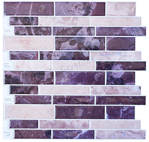 Crystiles Diy Peel Stick Backsplash For Kitchen And: Extravagant, Alluring And Sophisticated Mosaic Wall Decor