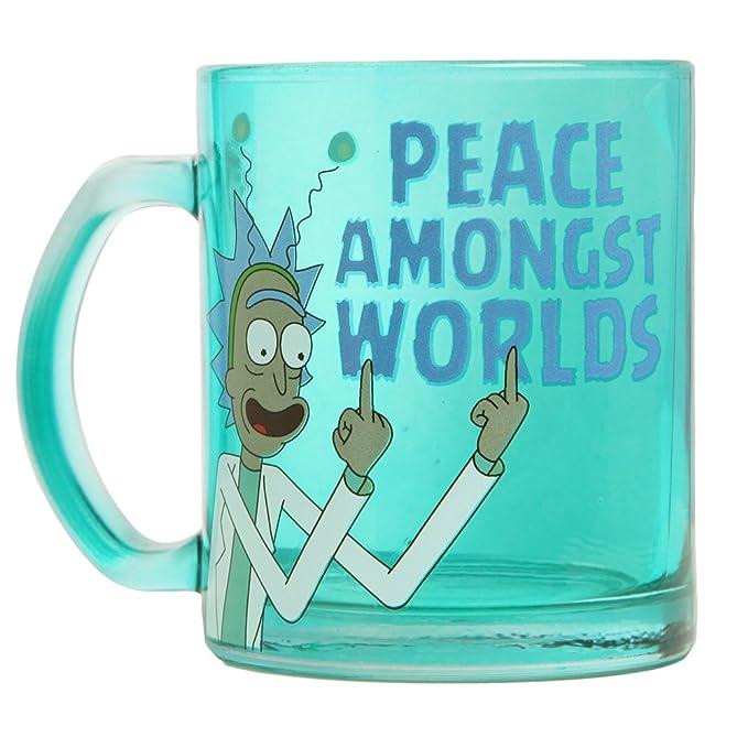RICK AND MORTY Rick & Morty Peace Amongst Worlds Glass Coffee Mug