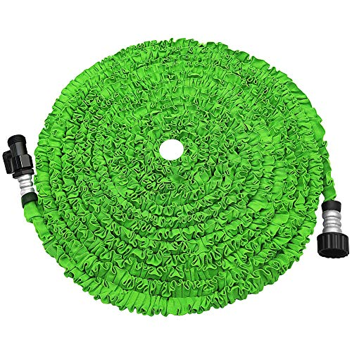 soled Expandable Garden Hose, Strongest Expanding Garden Hose on The Market with Triple Layer Latex Core & Latest Improved Extra Strength Fabric Protection for All Your Watering Needs(Green)