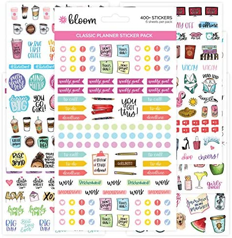 bloom daily planners New Classic Planner Sticker Sheets - Variety Sticker Pack - 417 Stickers Per Pack! 1