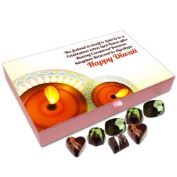 Chocholik Diwali Gift Box – Diwali The Festival of Victory Over Evil Chocolate Box – 12pc