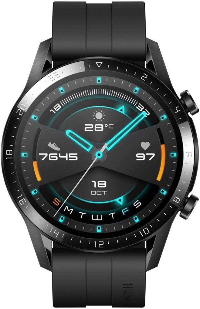Huawei Watch GT 2 Montre Connectée (GPS, boîtier 46 mm) avec Bracelet Sport Noir