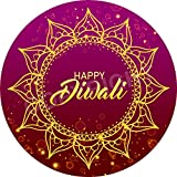 Happy Diwali Mandala Sticker Labels (12 Stickers, 2.5'' Inch Each) Seals Ideal for Party Bags, Sweet Cones, Favours, Jars, Presentations Gift Boxes, Bottles, Crafts