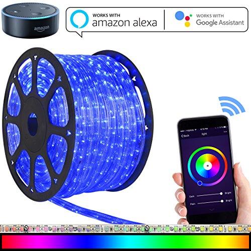 Led strip lights works with alexa maxonar wifi led light strip kit led strip lights aloadofball Images