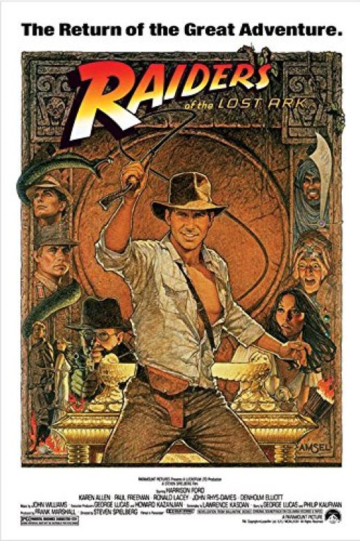 Image result for raiders of the lost ark original poster