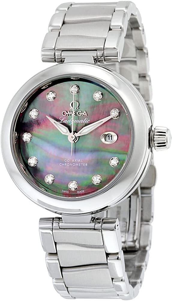 Omega De Ville Ladymatic Automatic Diamond Ladies Watch 42530342057004