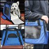Ess and Craft Pet Carrier 2 Tone Blue Airline Approved | Side Loading Travel Bag with Sturdy Bottom & Fleece Bed | Ventilated Pouch with Top Comfy Handle & Zipper Locks | for Dogs, Cats, Small Pets 8