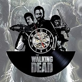 The Walking Dead Art Vinyl Wall Clock Gift Room Modern Home Record Vintage Decoration