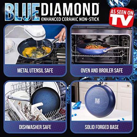 Blue-Diamond-CC001647-001-Toxin-Free-Ceramic-Nonstick-Metal-Utensil-DishwasherOvenBroiler-Safe-Round-Grill-Pan-11-Blue