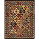Safavieh Heritage Collection HG926A Handcrafted Traditional Oriental Red and Multi Wool Area Rug (9' x 12')