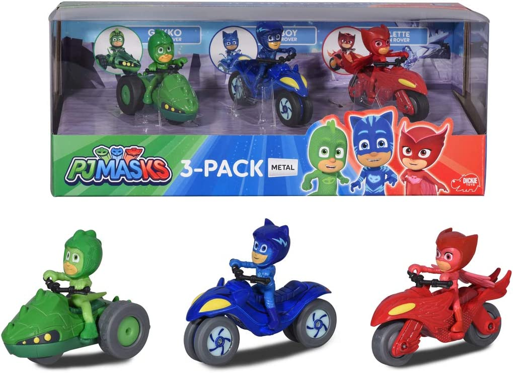 Dickie Pj Mask 3 Toy Bikes With Character Multicolour 3143003 Amazon Co Uk Toys Games