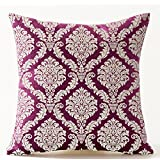 Moroccan design rich red and gold cushion