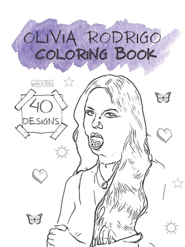 Olivia Rodrigo Sour Coloring Book: Matte Finish Cover, 12.12 x 12