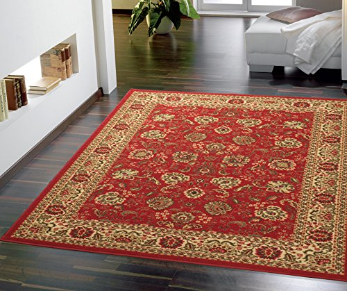 Ottomanson OTH2130-5X7 Rug, 5'0' X 6'6', Red Persian