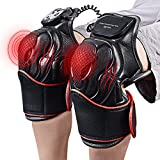 HailiCare Heat Therapy, Knee Physiotherapy Massager, Heated and Vibration Massage Knee and Joint Pain Relief Massager, Gift for Mom Dad Unisex Adults -1 Pair(Left+Right)