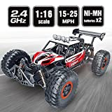 SPESXFUN RC Car, 2018 Newest 1/16 Scale High Speed Remote Control Car, 2.4 GHz Off Road RC Trucks with Two Rechargeable Batteries, Electric Toy Car for All Adults and Kids
