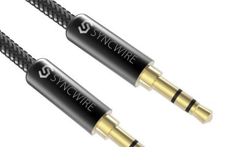 Syncwire オーディオケーブル 高音質 auxケーブル 標準3.5mm ステレオミニプラグ ヘッドホンケーブル スピーカー/ 車/ iPhone/Android - 1m ナイロン